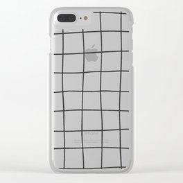 Black Grid V3 Clear iPhone Case