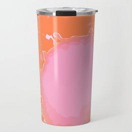Splat on Orange - by Friztin Travel Mug