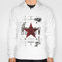 moscow Hoodies featuring Moscow Mockba by Virbia