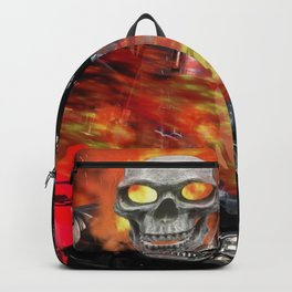 Fire Man Ghost Rider Backpack