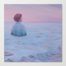 Her Steady Horizon - Sea Canvas Print