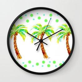 Tropical Palms Wall Clock