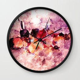 Colorful Minimalist Art / Abstract Painting Wall Clock