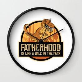 Fatherhood t-rex Wall Clock