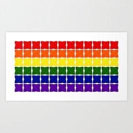 LGBTQ+ Cross Stitch Pride Flag Art Print