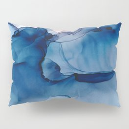 Hallowed Fluid ink abstract watercolor Pillow Sham