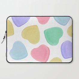 Candy Conversation Hearts Pattern Laptop Sleeve