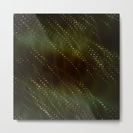 Green and Brown Abstract Metal Print