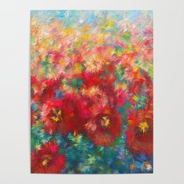 Impressionist Floral Abstract by OLena Art Poster