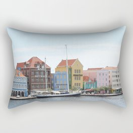 Sailing Boat in Willemstad Rectangular Pillow