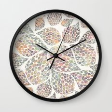 Soft Color Abstract Leaf Scatter Wall Clock