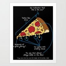 Pizza explained Art Print