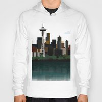 seattle Hoodies featuring Seattle by WyattDesign