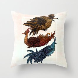 Legendary Birds Throw Pillow