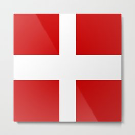 Flag of Savoie Metal Print