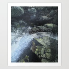 Ramapo Falls#2_painting Art Print