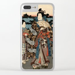 Garden of the Prosperous Blooms Triptych 2 Clear iPhone Case