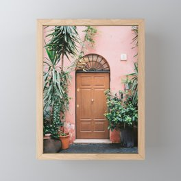 Front door of Rome | Travel photography Italy - pastel tones in Europe Framed Mini Art Print
