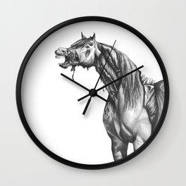 Equine Quietus: The Zombie Horse Wall Clock
