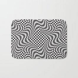 Checkered Warp Bath Mat