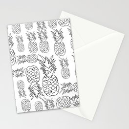 pineapple pattern (white background) Stationery Cards