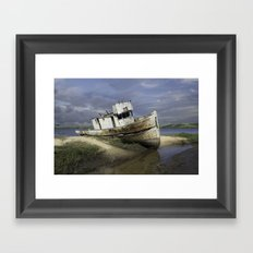 Ship Wreck Framed Art Print
