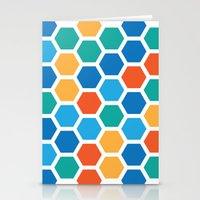 hexagon Stationery Cards featuring Hexagon by Danielle Arrington