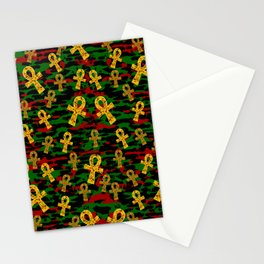 Red Black Green Ankh Stationery Cards