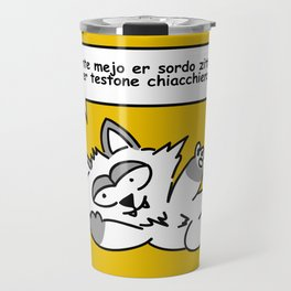 the wise cat - silence Travel Mug