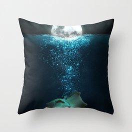 Born of moon Throw Pillow