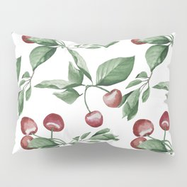 Watercolor red cherry pattern Pillow Sham