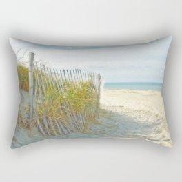 Sandy Beach, Ocean, and Dunes Rectangular Pillow