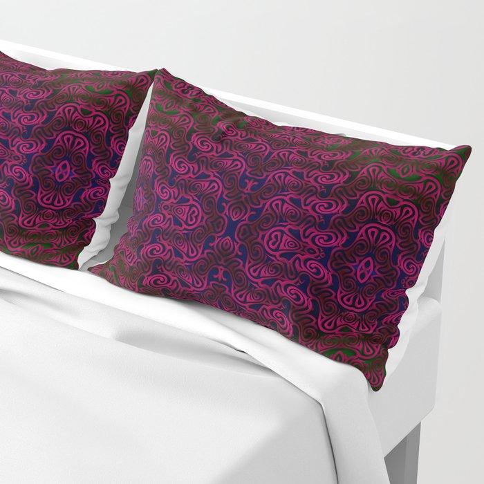 Dark red patterns Pillow Sham