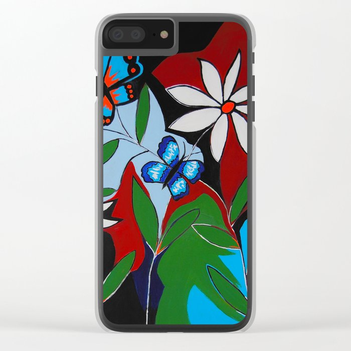 A Butterflies Paradise Clear iPhone Case