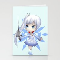 rwby Stationery Cards featuring Weiss by Louiology