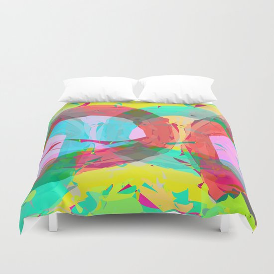 pastel color rings  Duvet Cover