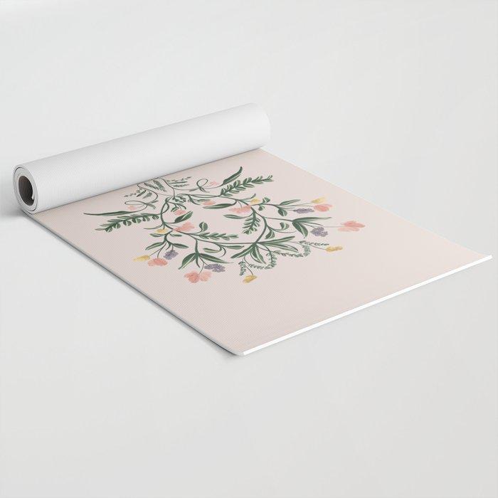 Modern Folk Art Yoga Mat
