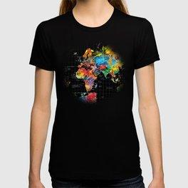 World Map Black - 1 T-shirt