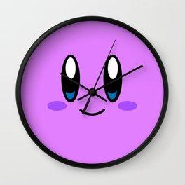 Kirby Face (Purple) Wall Clock