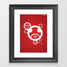 RED - Type Face Framed Art Print