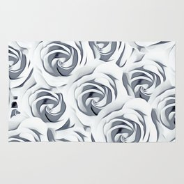 rose pattern texture abstract background in black and white Rug