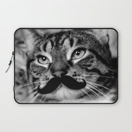 He's a Cat with a Mustache Laptop Sleeve