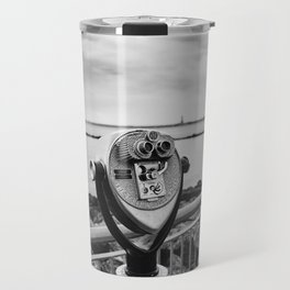 Looking At Lady Liberty Travel Mug