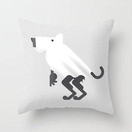 Werewolf / Ghost Throw Pillow