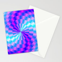Spiral Rings in Pink and Blue Stationery Cards