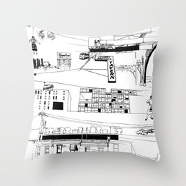 North Philadelphia Throw Pillow