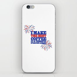 Funny Trump Midterm Political Election Coffee Love Gift iPhone Skin