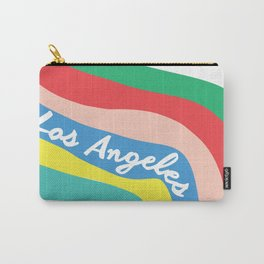 LOS ANGELES RAINBOW STRIPES Carry-All Pouch