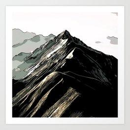 Fjellformasjon Art Print