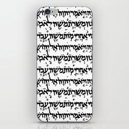 Hebrew Script iPhone Skin